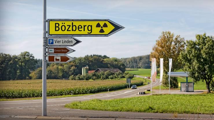 Das Gebiet Jura Ost rund um den Bözberg ist ein möglicher Standort für ein Atommüll-Tiefenlager. (Fotomontage KEY)