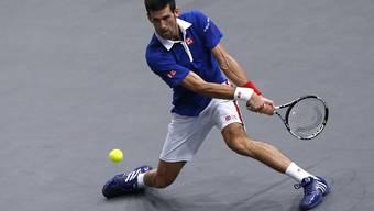 Praktisch unantastbar: Novak Djokovic startete mit einem deutlichen Sieg in die ATP-Finals