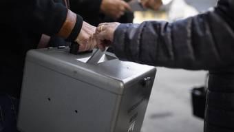 Nur ein Stimmzettel wurde in die Urne gelegt.