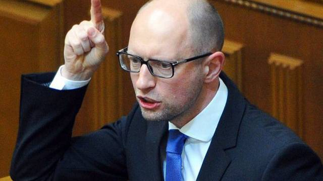 Der ukrainische Ministerpräsidnet Arseni  Jazenjuk (Archiv)