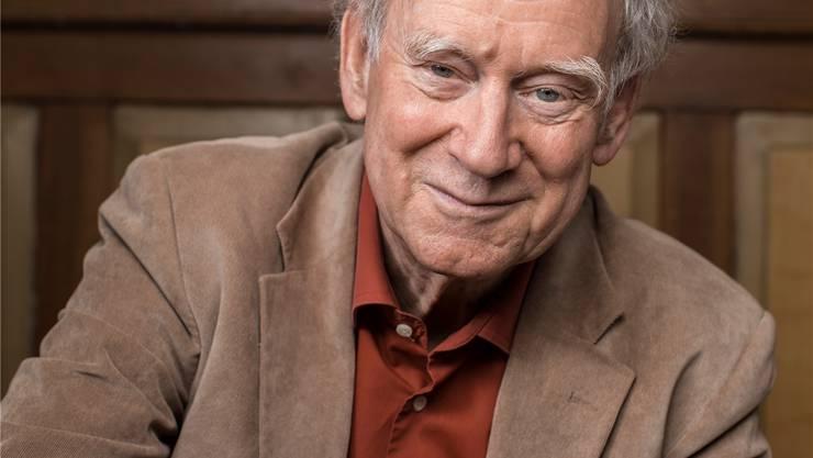 Franz Hohler spürt vor dem 50. Geburtstag des «Totemügerli», wie die Zeit vergeht.Gaetan Bally/Keystone