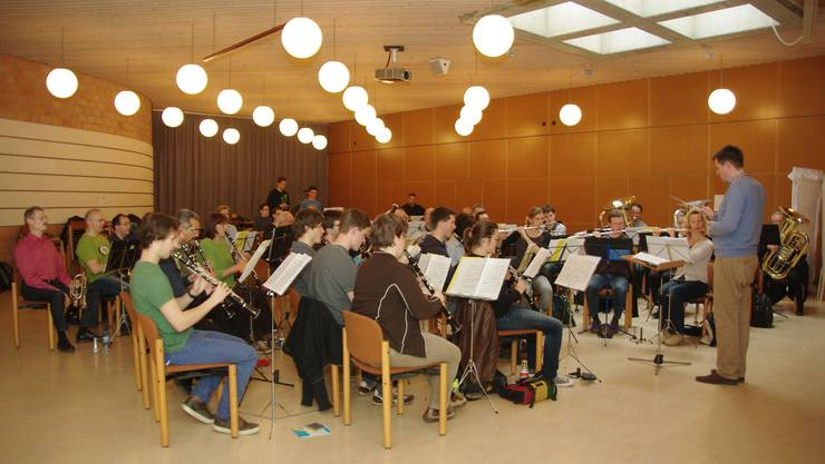 Das Musikorps übt in Fislisbach