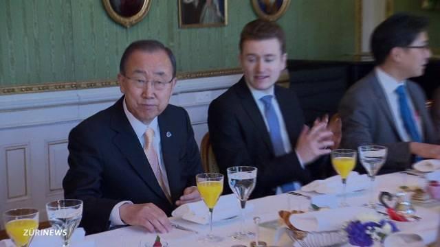 Ban Ki-moon besucht die Schweiz