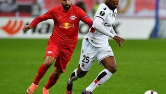 Der frühere GC-Stürmer Munas Dabbur (links) erzielte für Salzburg das Tor zum 2:0