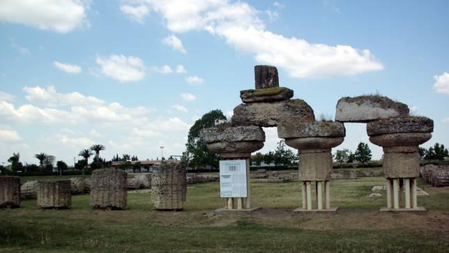 Die Überreste des Tempels der Hera in Metaponto - stammen die statischen Berechnungen von Pythagoras?
