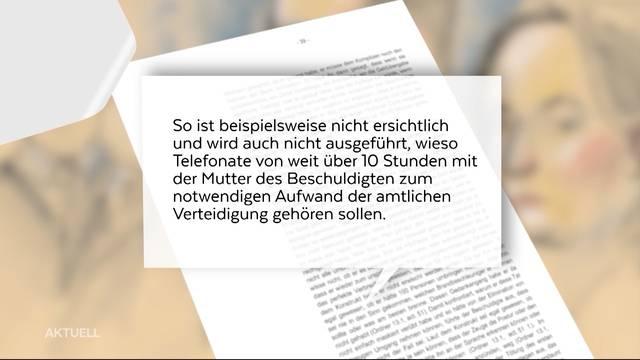 Fall Rupperswil: Heftige Kritik an Honorarforderung der Verteidigerin