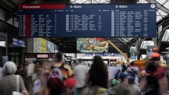 Die Angeklagten demonstrierten ohne Erlaubnis in der Querhalle des Zürcher Hauptbahnhofs.