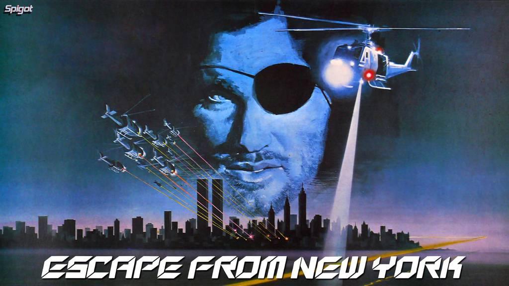 """Ein Film-Plakat von """"Escape form New York""""."""