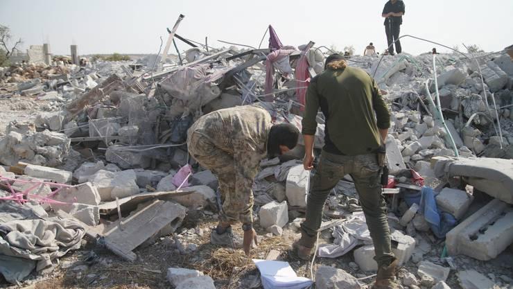Hier im Nordwesten Syriens hat sich Abu Bakr al Baghdadi in die Luft gesprengt.