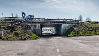 Die Sanierungsarbeiten an der A1 beginnen in Kirchberg: Unterführung Neuhofstrasse