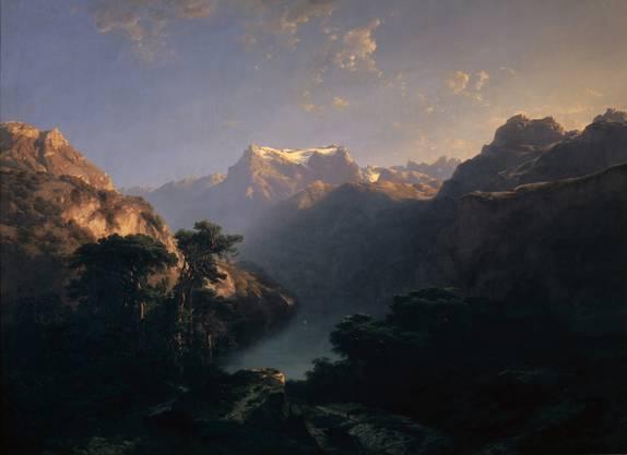 Eintauchen in kühle Schatten: Alexandre Calame, «Am Urnersee» von 1849.