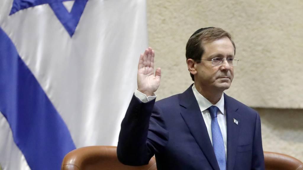 Israels neuer Präsident Herzog in Jerusalem vereidigt