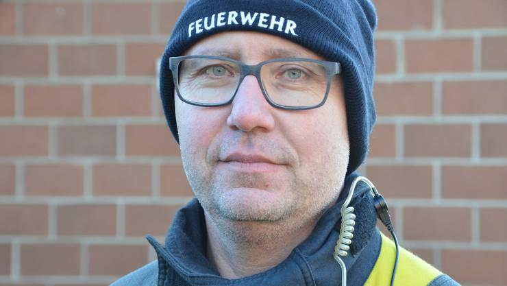 Jürg Wohlwend, Kommandant Feuerwehr Sennwald