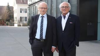 Klaus Endress (rechts) tritt nicht gegen Urs Hintermann an: Dieser bleibt vier weitere Jahre an der Spitze Reinachs.