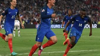 Antoine Griezmann erlöste mit seinem Kopfballtor gegen Albanien die Franzosen spät