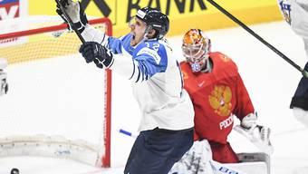 Marko Anttila freut sich über das entscheidende 1:0
