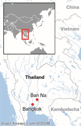 Die Ortschaft Ban Na liegt etwa zwei Stunden von Bangkok entfernt.