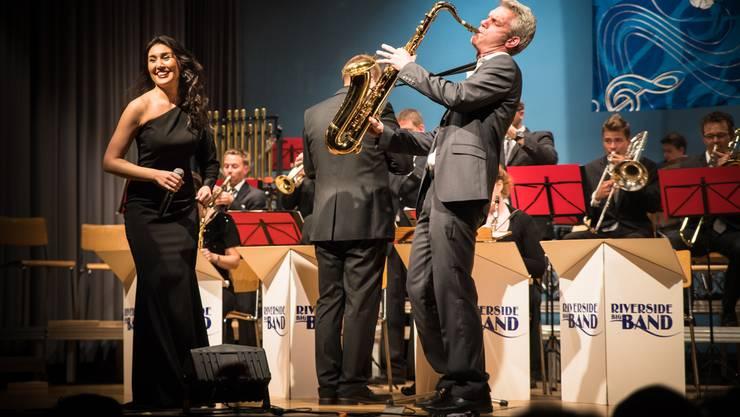 Sängerin Olga Kharlan und Saxofonist Marcel Hauri stellten die musikalischen Highlights des Abends dar. Sie unterstrichen das hohe Niveau, welches in der MG Villmergen derzeit herrscht.
