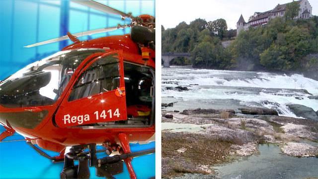 Neuer Helikopter für Rega / Rheinfall leidet an Wassermangel