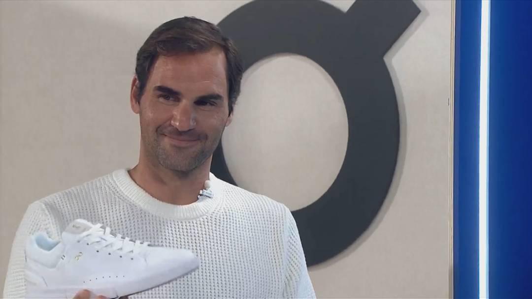 Roger Federer präsentiert seine On-Schuhe