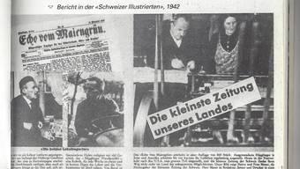 Das Echo vom Maiengrün, die «kleinste Zeitung unseres Landes», war 1942 der Schweizer Illustrierten einen grösseren Artikel wert.