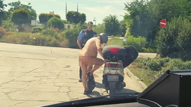 Der Mann war nackt unterwegs, weil es «halt warm» ist.