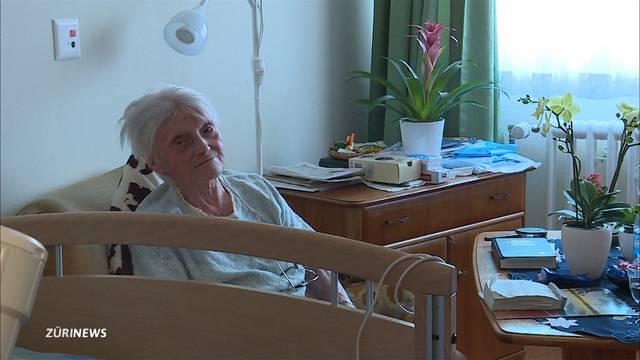 Alice Schaufelberg mit 110 Jahren noch immer fit