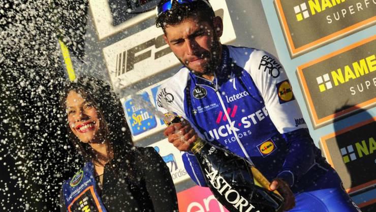 Fernando Gaviria feiert im März einen Etappensieg beim Tirreno-Adriatico (Archivbild)