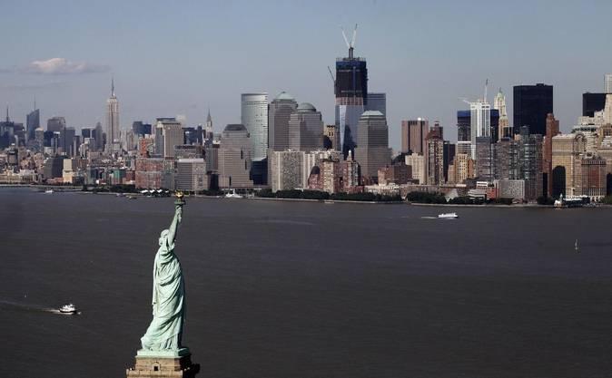Arbeiten an der neuen Skyline von New York