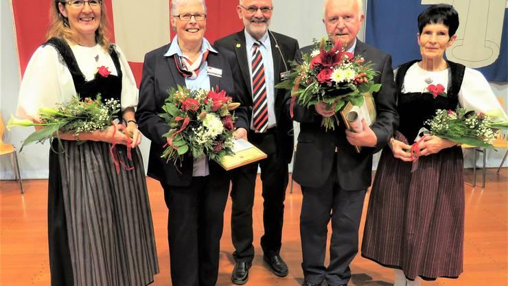 Unsere beiden neuen Ehrenmitglieder Ursula Haldemann und Roland Jeker