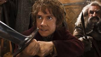 Martin Freeman (l.) und John Callen in einer Szene des Hobbit-Films