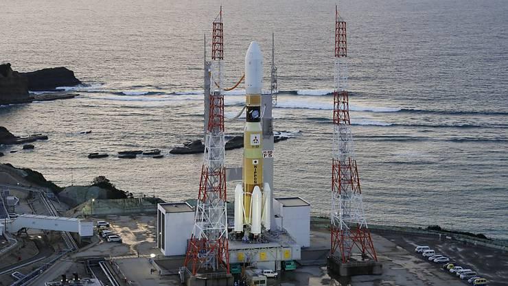 Raketen-Start verschoben: Nahe der Abschussrampe auf der südwestjapanischen Insel Tanegashima ist ein Brand ausgebrochen. (Archivbild)