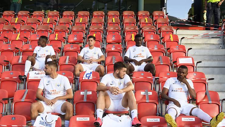 Am Dienstag noch am Spiel in Neuenburg gegen Xamax, jetzt in Quarantäne: Die Mannschaft vom FC Zürich ist für zehn Tage ausser Gefecht