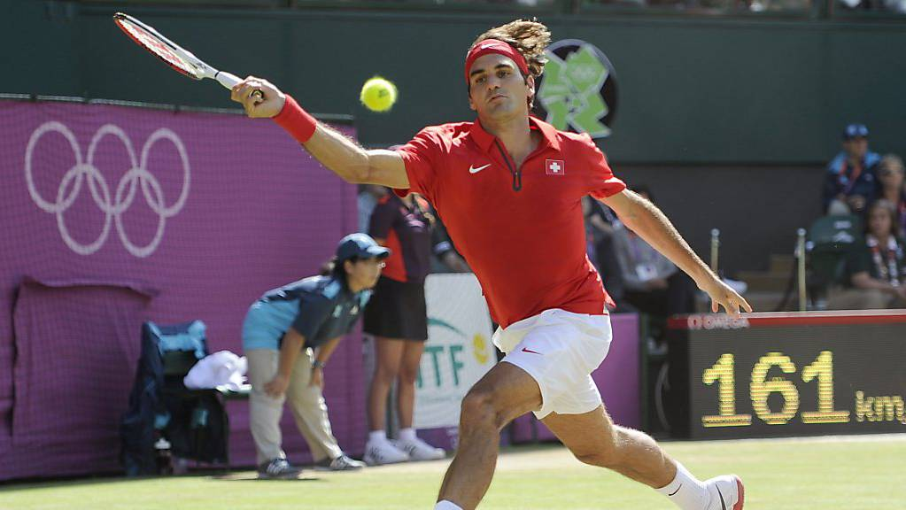 Olympia-Silber im Einzel und -Gold im Doppel hat Roger Federer bereits. Noch fehlt im aber der Olympiasieg im Einzel.