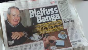 Bleifuss Banga im «Blick»