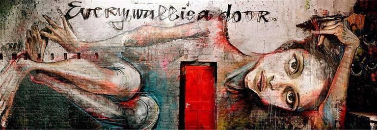 «Every Wall is a Door»: Das Wandbild des deutschen Künstlerpaars Herakut ist der Namensgeber des Bildbands.