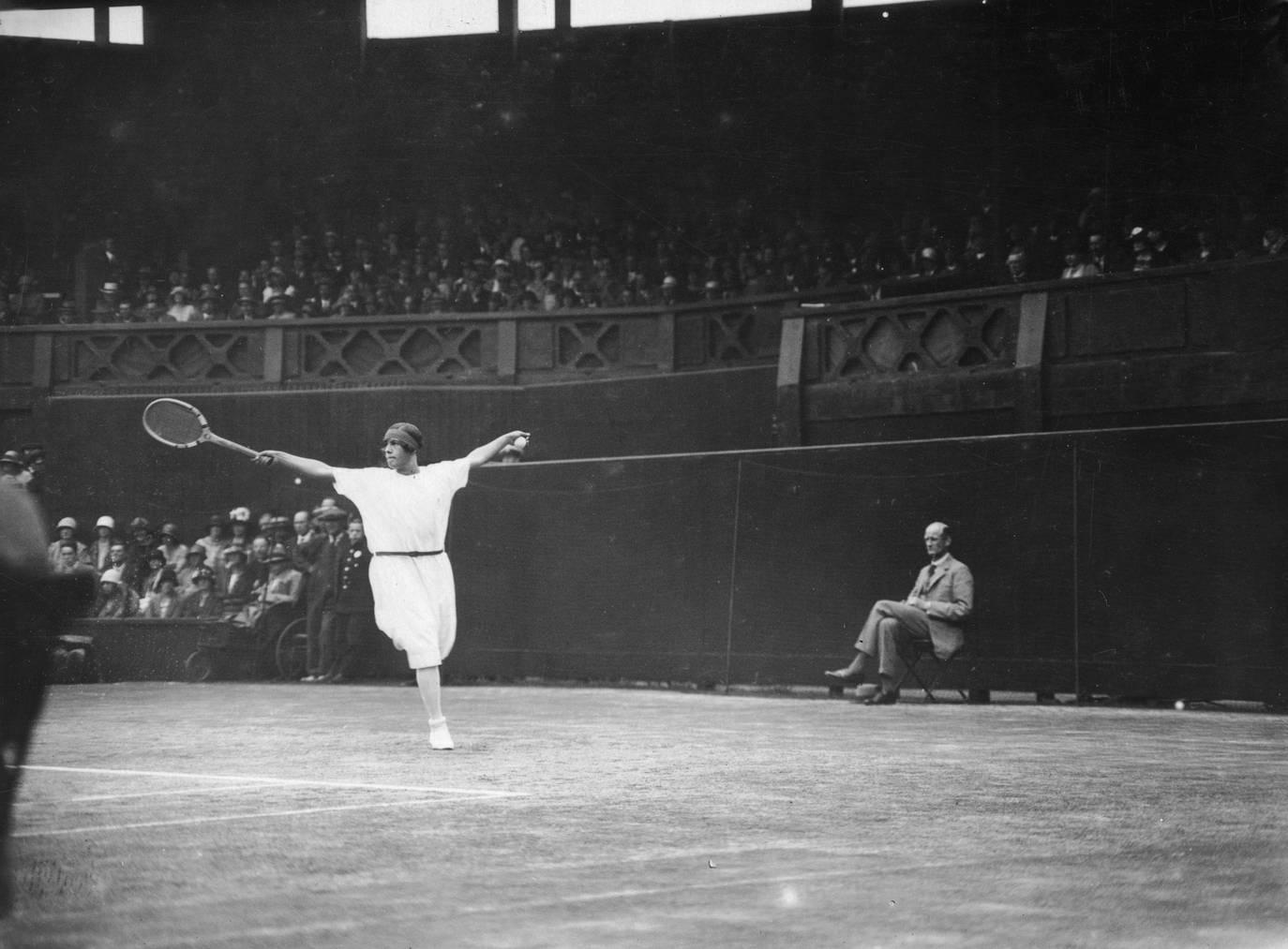 Sie gewann Wimbledon sechs Mal: Suzanne Lenglen.