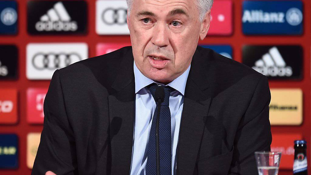 Bayern Münchens neuer Trainer Carlo Ancelotti freut sich auf die kommende Bundesliga-Saison