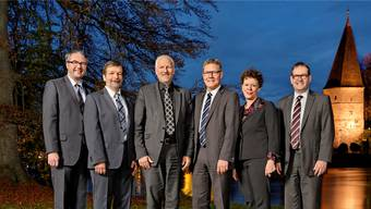 Die Solothurner Regierung nimmt nur selten Stellung zu nationalen Vorlagen. (von links): Remo Ankli, Roland Heim, Peter Gomm , Roland Fürst, Esther Gassler sowie Staatsschreiber Andreas Eng.