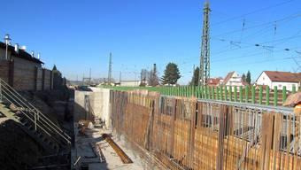 Rheintalbahn, Baustelle Weil am Rhein, Haltingen