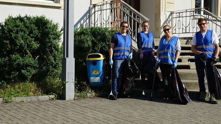 Reinigungstrupp der FDP Wettingen