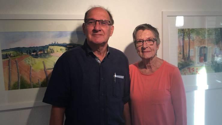 Heidi Thüring, bekannte Kunstmalerin in unserer Gegend und ihr Ehegatte Rot. Heinz Thüring