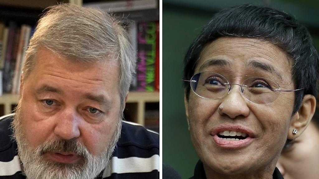 Auszeichnung für bedrohte Medien – Nobelpreis für Ressa und Muratow