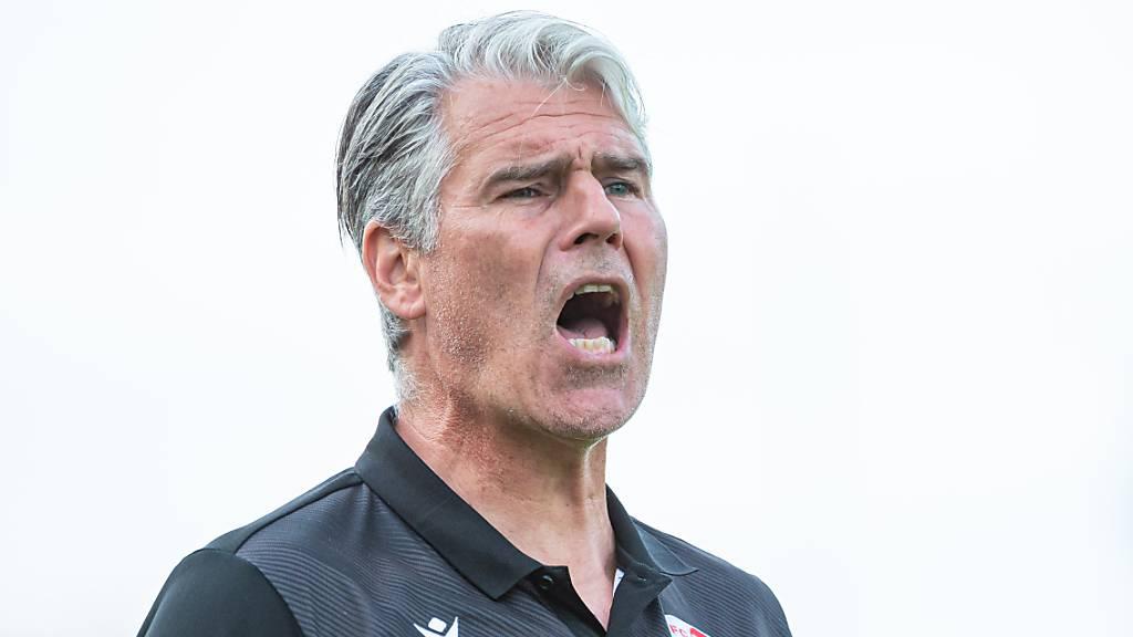 Trotz guter Resultate in der Meisterschaft befindet sich Marco Walker mit seinem FC Sion unter Druck: Schuld daran ist die Cup-Pleite vom Wochenende