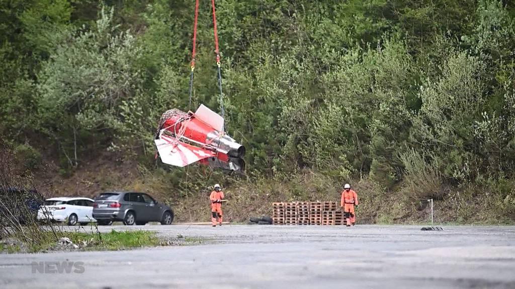 Abgestürztes Flugzeug: Die Bergung des Tiger-Kampfjets auf der Melchsee-Frutt beginnt