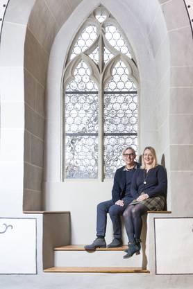 Seit 2019 sind René Marty und Christine Ziegler Geschäftsführer auf dem Schloss Lenzburg.