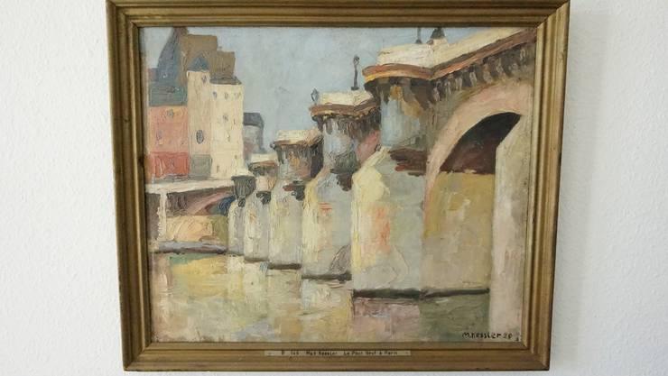 Das Werk «Le Pont Neuf à Paris» malte Max Kessler 1920. 1921 kaufte der Kunstverein das Bild für das Kunstmuseum.