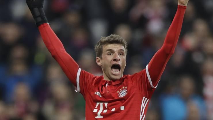 Thomas Müller will 2017 wieder als Stammspieler von Bayern München jubeln