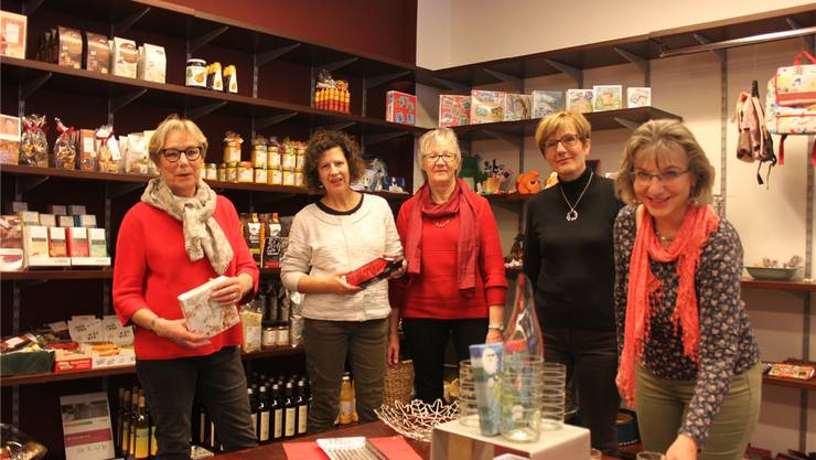 Ein Teil des Teams von links: Elsbeth Schild, Monika Glaus, Christine Bögli, Margreth Grossmann und Louise Culmone.