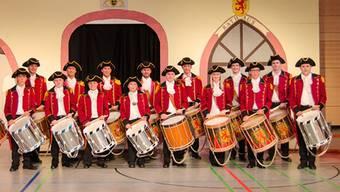 Die Laufenburger Tambouren  in ihrer schmucken Uniform. – Foto: tl